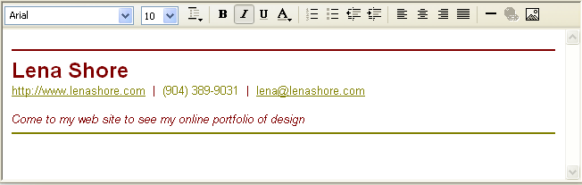 Spruce Up Your Signature in Outlook Express - Lena Shore