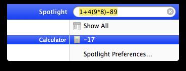 Spotlight can add on your macintosh