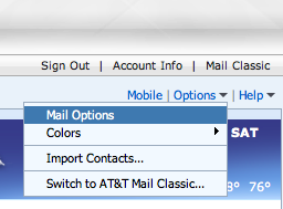 AT&T mail options