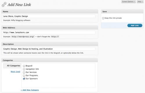 adding-a-new-wordpress-link