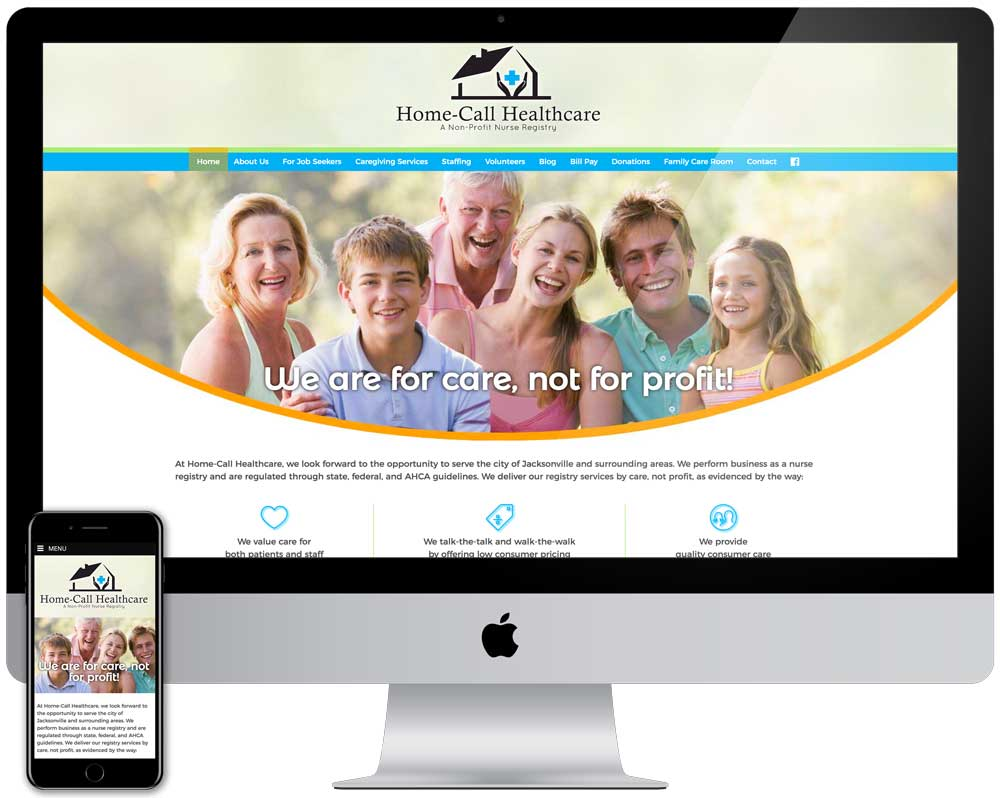 Home Call Health Care Website