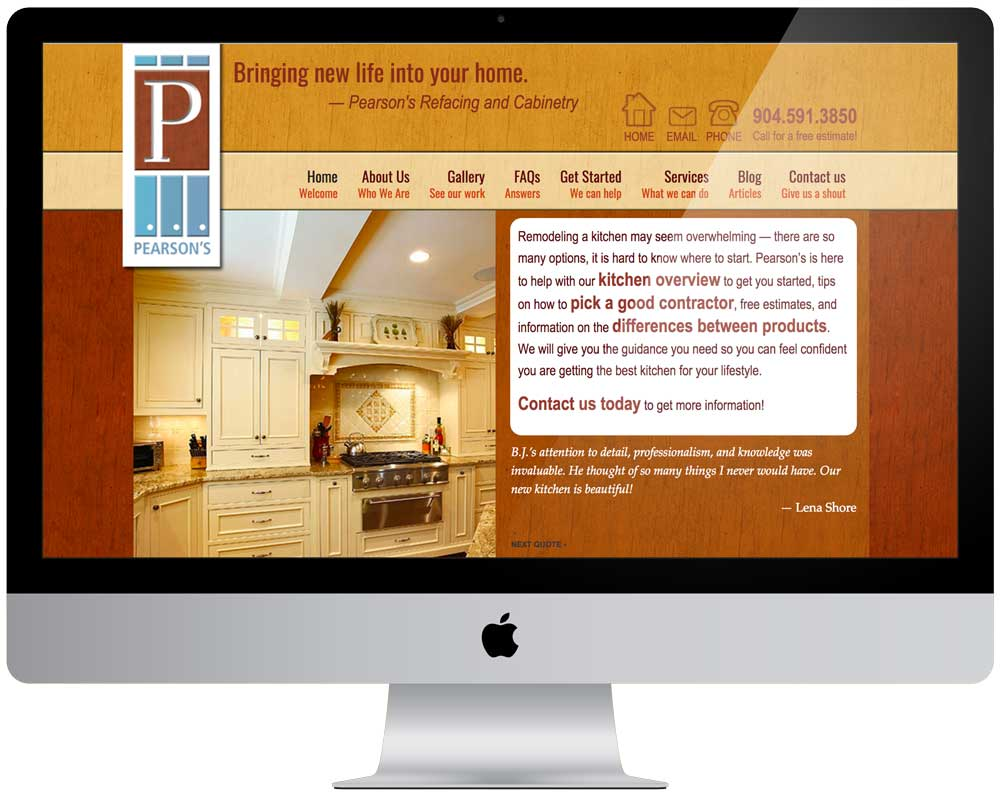 Pearsons Cabinets Website