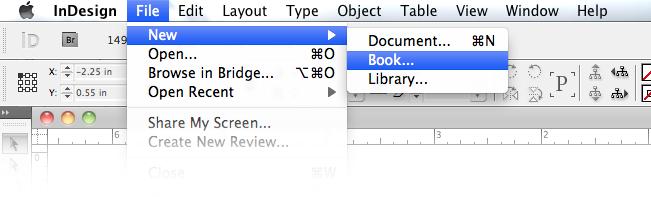 Create a book in InDesign