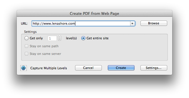 How to Make a PDF of an Entire Website – Lena Shore