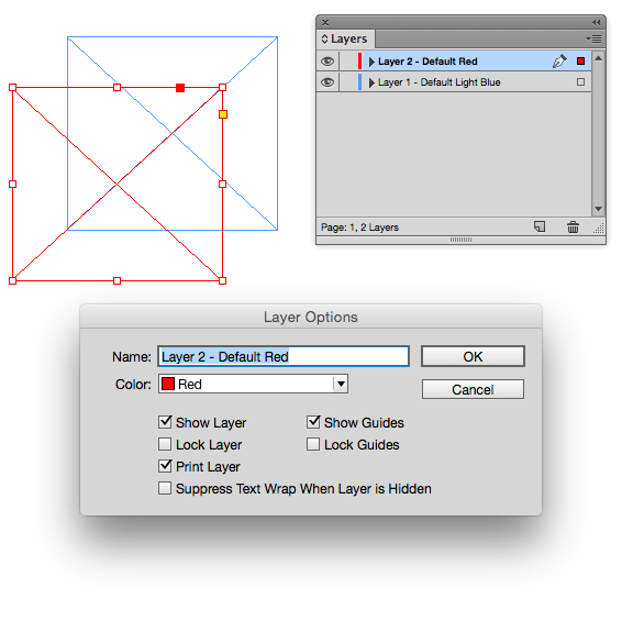 Layer Options Indesign