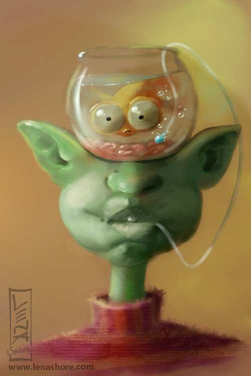 Goldfish Head illustrtion
