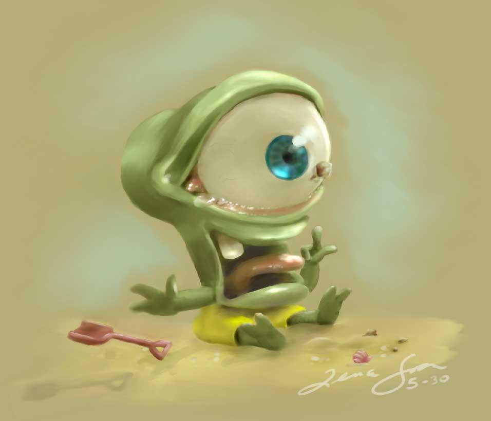 Sand in my eye Illustration