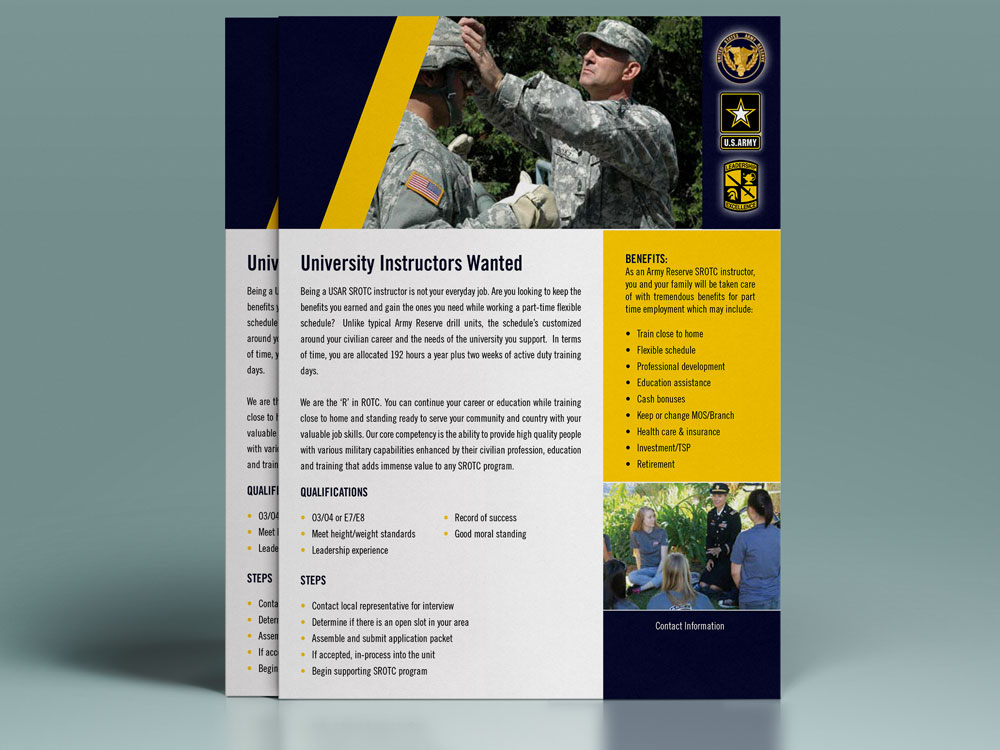 Army Reserves Flyer